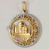 Золотые мусульманские кулоны