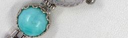 Серебряные женские часы с янтарем