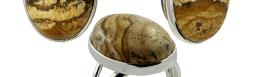 Серебряные подвески с янтарем