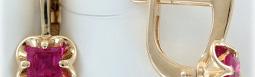 Золотые серьги с драгоценными камнями в интернет магазине Москвы